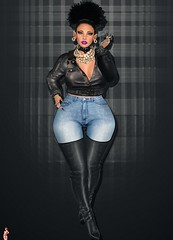 Outfit_24_12_15_ (String Fashion) Tags: skinny boots boobs bbw jeans highrise milf overknee lederhose stiefel lederjacke overknees overkneeboots lederarsch stiefelfreunde