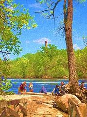 Rivers Edge (gouchesphotosandcomments) Tags: travel minnesota landscape picnic stpaul mississippiriver bathing photoart riverscenes riverwild