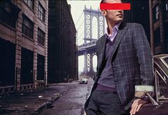 (Keysgoclick) Tags: nyc newyork men fashion collage brooklyn vintage bronx retro suit indie manhattanbridge mens chic ecelctic