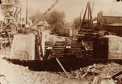 Canal, Portage Locks Under Construction, 1927, 2