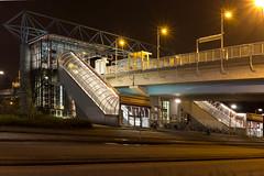 Metrostation Slotlaan (dorsman1970) Tags: station metro nederland viaduct architectuur gebouw nachtfotografie capelleaandenijssel
