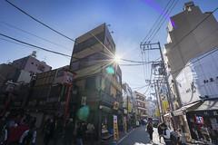 Asakusa Street (toumasaveme) Tags: street sun tokyo burst asakusa