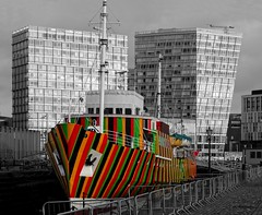 Liverpool Dazzle Ship (Ermintrude73) Tags: liverpool liverpooldocks catchycolors albertdock merseysidemaritimemuseum carloscruzdiez mannisland liverpoolwaterfront dazzleship edmundgardnerpilotboat