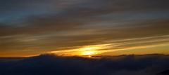 Mauna Kea Sunset (J @BRX) Tags: sunset sky usa sun mountain rock clouds volcano hawaii peace unitedstates hi bigisland hilo maunakea maunakeavisitorinformationstation december2013