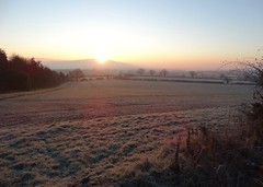 Frosty sunrise (rockwolf) Tags: winter ice sunrise frozen frost shropshire frostysunrise wrekin rockwolf