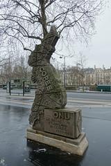 War of Korea monument @ Paris (*_*) Tags: city winter paris france europe cloudy gray january korea coree brigade 2016