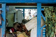 (Kals Pics) Tags: man reflection history mirror culture barbershop thanjavur legend tamilnadu historiccity roi trichy cwc tanjore ancientcity tiruchirapalli rootsofindia ariyalur kalspics thirumazhapadi chennaiweelendclickers