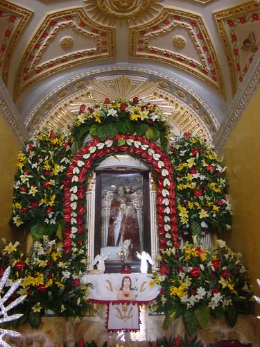 Altar Mayor, Templo de Sta. María Magdalena, La Magdalena Tlatlauquitepec, Pue.