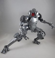 Crouching (donuts_ftw) Tags: silver lego bionicle mecha droid assassin moc constraction ccbs