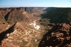 Shothole Canyon, W. Australia (GothPhil) Tags: 35mm landscape scenery december kodak australia canyon cliffs erosion valley scanned limestone gorge kodachrome westernaustralia 1990 asa200 exmouth rockformation geological caperangenationalpark shotholecanyon gasgoyne