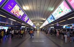 Waiting for the train (Anubhav Kochhar) Tags: life street city travel people beautiful station train canon thailand eos amazing waiting metro bangkok indian awesome traveller solo rush foreign bts 60d