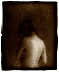 The Picture Wall (Jason Andrescavage) Tags: girl sepia darkroom silver nude print model large 8x10 topless format toned