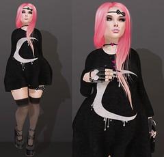 Post #1666 ( =^^=) Tags: pink black fashion hair blog punk photographer heart skin nail gothic emo goth makeup blogger piercing diamond bow monroe glove stocking jewelery hud jewel applier pinkatude sashakittehwildrose
