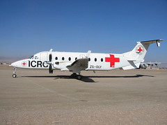 Beech-1900D ZS-OLY c/n UE.39 ICRC (Red-Cross) Tarin-Kowt, Afghanistan. 18-01-2010. (Aircraft throughout the years) Tags: afghanistan beech beech1900d tarinkowt zsoly