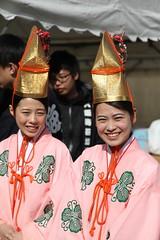 Setsubun (eyawlk60) Tags: cute girl japan canon eos shrine 5d nippon miko  jinja tenmangu
