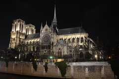 Notre Dame night view (raewynp) Tags: paris france architecture night cathedral gothic notredame spire buttress iledelacite frenchgothic