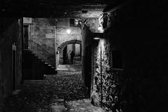 A shadow through the alleys (drugodragodiego) Tags: shadow blackandwhite bw italy night blackwhite alley pentax ombre nightscene carnevale lombardia notte biancoenero notturno k3 vicoli bagolino vallesabbia provinciadibrescia smcpentaxda1224mmf4edalif pentaxda1224mm valledelcaffaro pentaxiani carnevaledibagolino pentaxk3