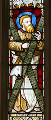 St Andrew in Stained Glass (West End) (leitzlover) Tags: andreas stratton standrew saintandrew
