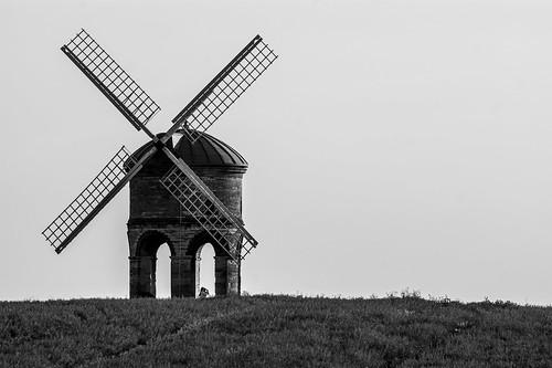 summer sky people bw white black history mill scale windmill grass grey noir wind mark landmark bn land historical chesterton blanc