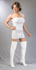 Sheer Delight In Pure White! (kaceycd) Tags: panties highheels boots bra panty fishnet tgirl thong corset gstring pantyhose strapless crossdress spandex brassiere lycra tg stilettos bandeau kinkyboots thighboots cincher minidress stilettoboots sexyboots tubedress wavenet