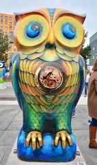 Birmingham, The Big Hoot Owls, Tick-Tock (Martin Pettitt) Tags: city uk trip autumn birmingham october dslr sculptures westmidlands owls dayout ticktock sigma1020mmf456exdchsm nikond7100 thebighoot