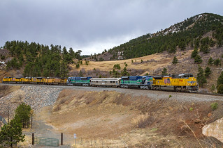 SD70ACe-T4's in Coal Creek Canyon