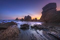 Receding Tide (sjs61) Tags: seascape landscapes surf sunsets orangecounty oc sunrays coronadelmar reflectedlight steveskinner steveskinnerphotography sjs61