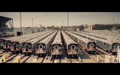 Corona Yard (Dj Poe) Tags: nyc newyorkcity bw cinema ny color zeiss yard train 35mm subway availablelight sony trains queens corona mta cinematic tones hdr ze 2016 coronayard carlzeisslenses nd110 skyhdr vsco distagont1435 djpoe andrewmohrer sonya7rii a7rii a7r2 sonyilce7rm2