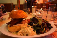 Fish Sandwich at Lakeview Diner (deeeelish) Tags: fish vegetables salad sandwich coleslaw