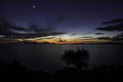 sundown moon up (Just Ron ;)) Tags: sunset moon seascape nikon d750 20mm gne