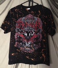 Splatter Bleached Metalocalypse Dethklok '09 Tour T Shirt (shopthegasstation) Tags: ladies girls music black rock metal shirt altered tv clothing tour graphic top cartoon band bleach tshirt womens gasstation clothes mens jersey etsy tee unisex splatter bleached dyed splattered dethklok metalocalypse