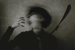 IAmMyOnlyEscape (ZEDX95) Tags: portrait sepia photography blackwhite scary surreal scared conceptual lucid delusion