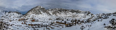 Laklouk Changrilla And Chalets, Lebanon (Paul Saad (( ON/OFF ))) Tags: blue lebanon mountain snow mountains color colour landscape nikon outdoor panoramic hq hdr whie skyvalley qartaba laklouk kartaba