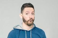 (Damien Cox) Tags: uk blue portrait selfportrait man male me face self ego myself beard eyes nikon masculine ears moi hoody autorretrato scruff stubble i damiencox damiencoxcouk