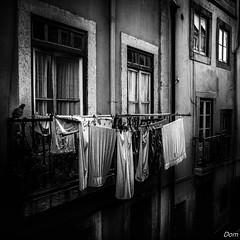 Il y a du linge au balcon (Dom-35) Tags: bw blackwhite noiretblanc innamoramento