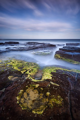 Waiting & Watching (Rodney Campbell) Tags: ocean longexposure sky water clouds rocks au australia newsouthwales cpl wombarra gnd09 bigstopper