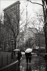 Flatiron building on a rainy day (Johannes Wachter) Tags: park newyorkcity madisonsquarepark flatironbuilding regen schirm