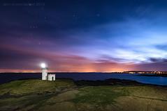 Orion Rising (ianrwmccracken) Tags: sky lighthouse lightpainting night stars lowlight orion constellation elie