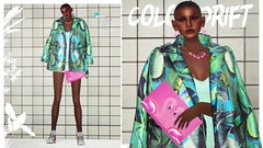 color drift (algorifm) Tags: fashion bright chocolate flamingo sl secondlife pinkwhite secondlifefashion fashionlook look14 colordrift fashionlookinsl lookinsl