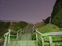 Escaleras al universo (nO_VR) Tags: espaa night photo spain corua europa europe flickr foto place picture olympus galicia estrellas campelo escaleras ferrol meirs narn olympusomd olympusomdem5markii