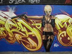 Mr Shiz & Mr Frames graffiti, Leake Street (duncan) Tags: graffiti lola frame transporter shiz transporter2 katenauta leakestreet mrframe mrshiz