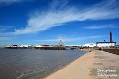Blackpool Promenade (jonnywalker) Tags: sea tower coast pier seaside bluesky lancashire promenade ferriswheel seafront funfair blackpool centralpier blackpooltower