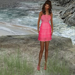 LAVIAN – By Sage@ Black Dot- Flora Dress & Flora Heels (Xiomara Lavendel) Tags: shoes sage cocktail event secondlife casual monthly casualchic slfashion slmodel secondlifefashion secondlifemodel lavian xiomaralavendel blackdotevent lavianco rezology laviancobysage