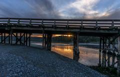 Sunset (Paul Rioux) Tags: bridge sunset seascape clouds evening bc waterfront outdoor dusk britishcolumbia victoria vancouverisland coastal shore pilings westcoast seashore tidal gravel colwood westshore esquimaltlagoon prioux