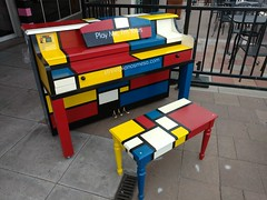 Mesa Street Piano, Piet Mondrian (Patrick Dockens) Tags: arizona usa art artwork pretty artist painted piano az publicart mesa pietmondrian britishartist downtownmesa lukejerram playmeimyours