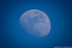 Blue Moon (Vaughan Weather) Tags: ca moon toronto ontario canada day sunny bluesky telephoto astrophotography etobicoke astronomy bluemoon 800mm supertelephoto canon800mmf56