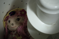 pink dolly - day 112 (Justin van Damme) Tags: pink white found garbage junk object machine dirty laundry dolly washing