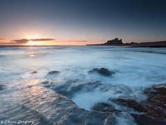 Bamburgh Sunrise (Photography by Chris Gregory) Tags: longexposure seascape sunrise dawn northumberland bamburghcastle canonef1740mml leefilters canon5dmkii