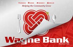 Wayne Bank Placemat (Justin Roach Work Stuff) Tags: advertising design graphicdesign bank batman brucewayne 570 waynebank