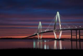 Sunset at the Ravenel Bridge, Charleston